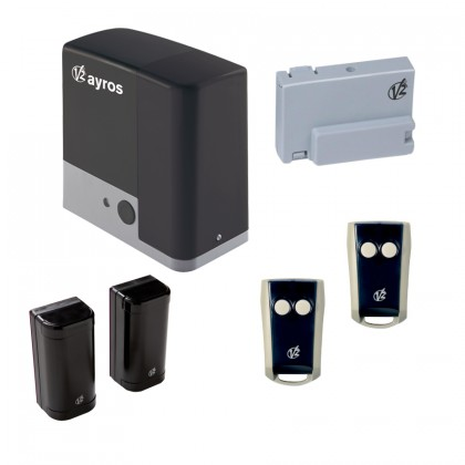 V2 AYROS1200 230Vac sliding gate kit for automating gates up to 1200kg